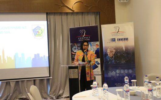 Walikota Kotamobagu Ir. Hj. Tatong Bara membuka sekaligus menjadi pembicara pada kegiatan sharing knowledge di Four Point Hotel