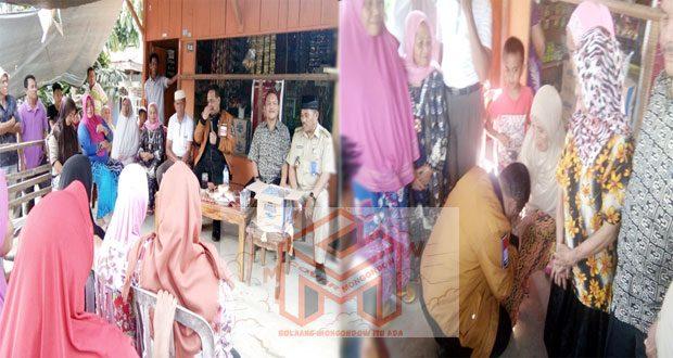 foto Benny Rhamdani anggota DPD RI saat silahturahmi dengan warga upai, sekaligus meminta restu kepada sejumlah lansia untuk dapat direstui terkait keselamatan kerjanya dan keluarganya
