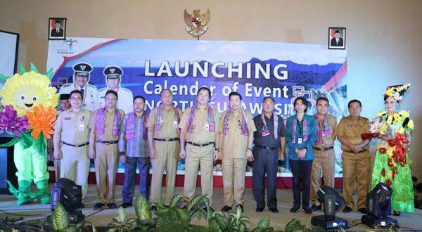 Wakil Bupati saat menghadiri Launching Calender Of Event 2018 North Sulawesi di Pinensuela Manado