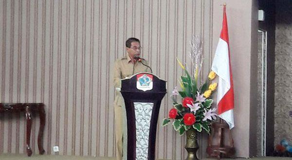 Bupati Boltim Sehan Salim Lanjar, SH saat membuka dengan resmi kegiatan Musrenbang RKPD kabupaten Boltim