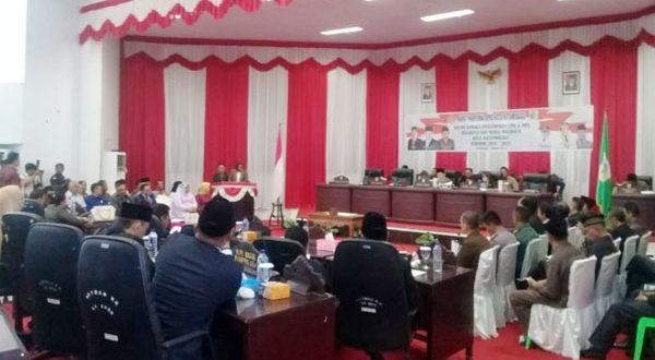 Rapat Paripurna DPRD Kotamobagu
