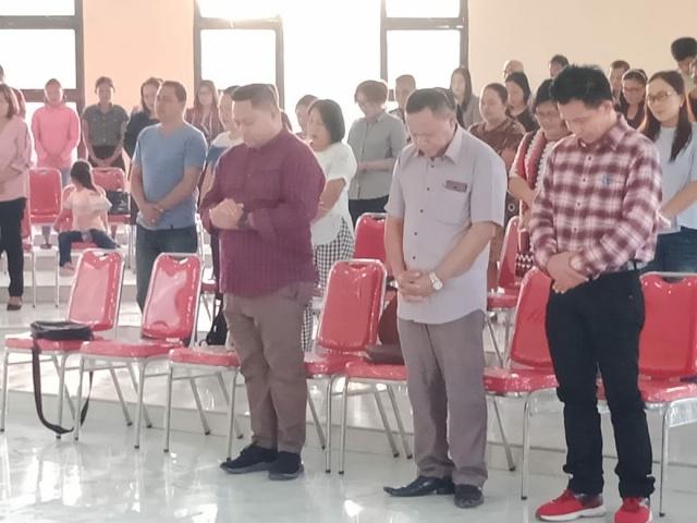 Sekertaris Daerah Pemkab Bolsel, Marzainus A. Ohy saat menghadiri PISB di Gereja Panango