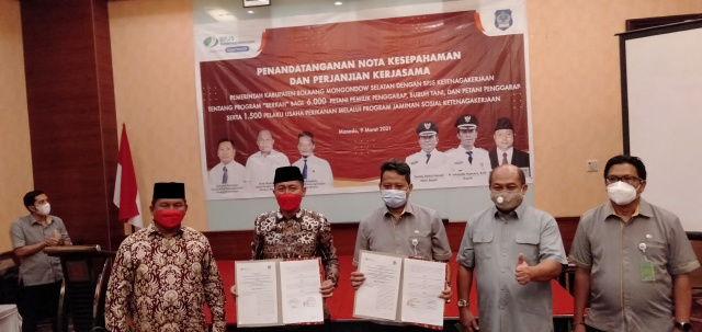 Janji Politik Pasangan BerKAH Terealisasi, Pemkab Bolsel Jamin BPJS Ketenagakerjaan 6000 Buruh Tani dan Nelayan