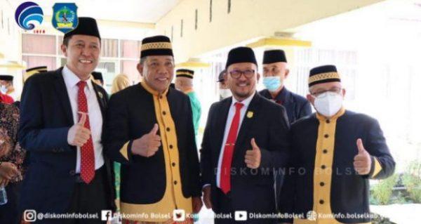 Bupati Serta Ketua DPRD Bolsel Hadiri Upaacara HUT ke-14 Tahun Kabupaten Bolaang Mongondow Utara